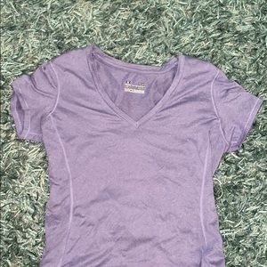 Purple V-neck